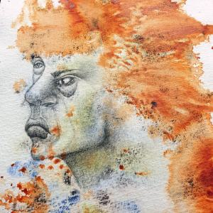 semi-abstract portrait by Mandy van Goeije