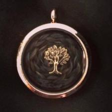 Rose Gold Horsehair Memory Locket