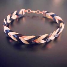 Rose Gold Multi Strand Horsehair Bracelet
