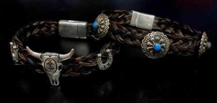 Western Cow Skull Bracelet