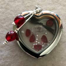 Peach Heart Locket