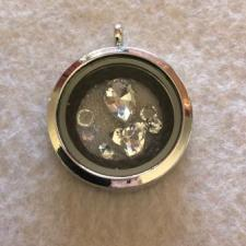 Silver Memory Locket with Sparkles, horse hair jewellery Australia