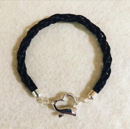 Sterling Silver Heart Bracelet.