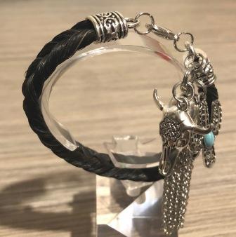 Longhorn Love western horse hair bracelet
