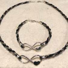 Infinity Heart Necklace and Bracelet Set