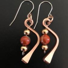 Copper Horseshoe Nail Earrings