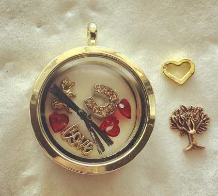 Gold Charmed Memory Locket