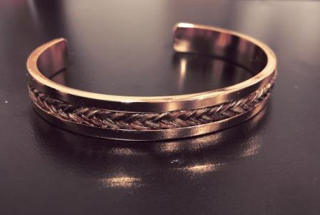 Rose Gold Horsehair Cuff