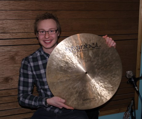 Joe with his Istanbul cymbals.