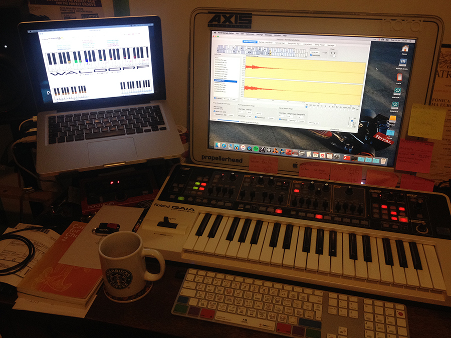 Nord Sample Editor in the studio