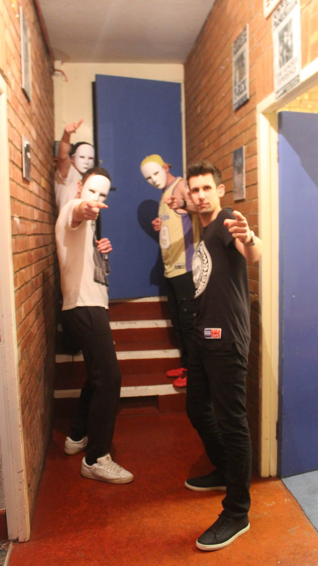 Waiting in the famous backstage corridor (Photo by Karina Lawrence)