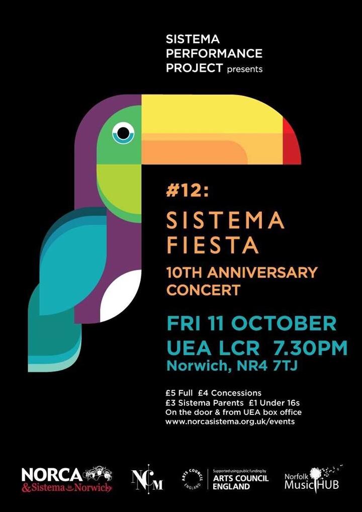 This Friday: Sistema Fiesta at UEA LCR
