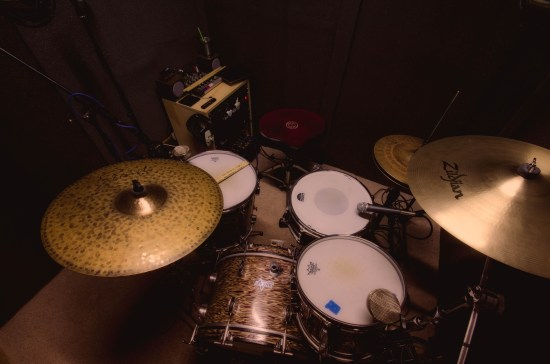 Drums inside the booth