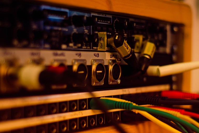 Headphone amp and custom patch panel