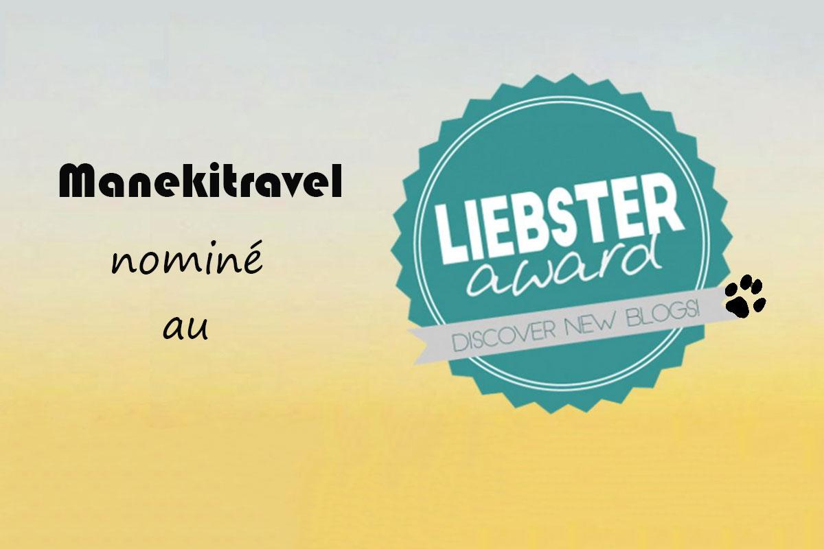 Liebster Award Manekitravel