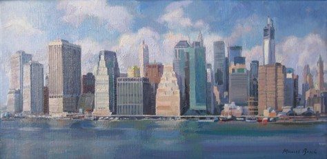 Lower Manhattan from the East River. New York