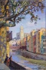 Mirando las fachadas. Girona