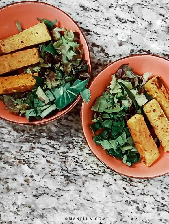 Receta vegana Tofu curry Plant based food - Manelun