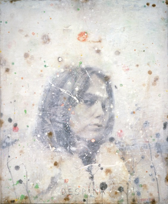 Untitled, 2001, pencil, gesso, ink, coffee and tea on paper on board, cm 60x72