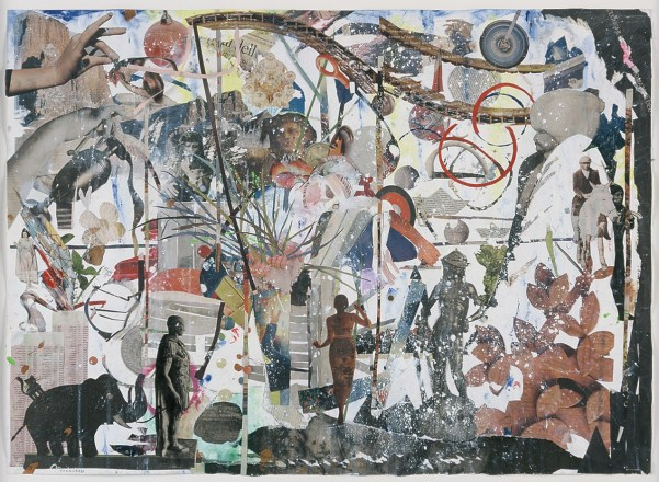 Untitled, 2008, collage on paper and acrylic ink, cm 81x59