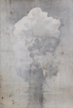 Untitled, 2002-2003, pencil, gesso and coffee on paper, cm 74.5x110