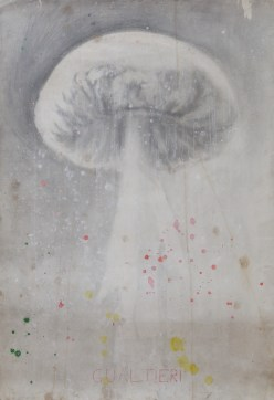 Untitled, 2002-2003, pencil, gesso, ink and coffee on paper, cm 74.5x110