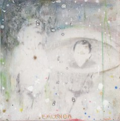 Untitled, 2004, pencil, inks and acrylic gesso on paper on board, cm 50x50