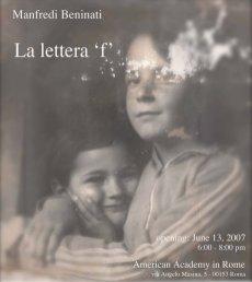 La lettera F, 2007, card