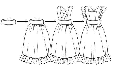 Manual Para Dibujar Vestidos De Asistentas Y Sirvientas
