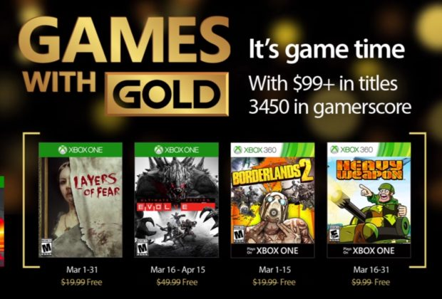 Games With Gold: i giochi di marzo 2017