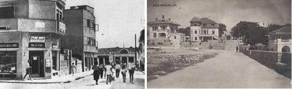 Intrare in hotelul Bucur Pop-Intrare pe digul Mangaliei1935