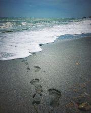 Dan Cristian Mihailescu urme de pasi langa mare