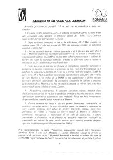 Informare actionari - Finalizarea negocierilor privind documentele tranzactiei dintre societatea Santierul Naval 2 Mai S.A-pag2