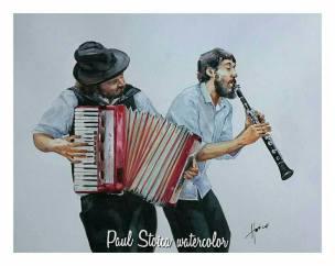 Paul_Stoica_Muzicienii-acuarela