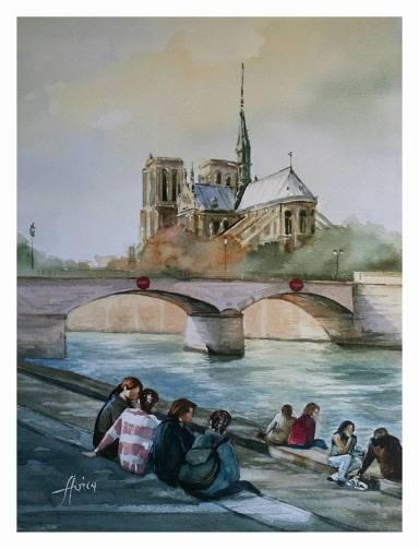 Paul_Stoica_Notre-Dame-de-Paris-acuarela