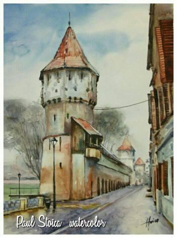 Paul_Stoica_Sibiu-acuarela