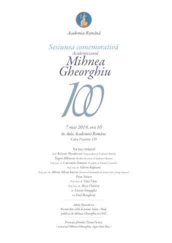 Academician Mihnea Gheorghiu – 100 de ani de la nastere2