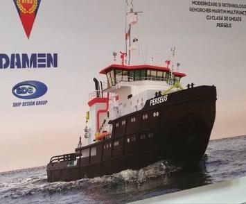 Șantierul Naval Damen Mangalia va moderniza spărgătorul de gheață Perseus3