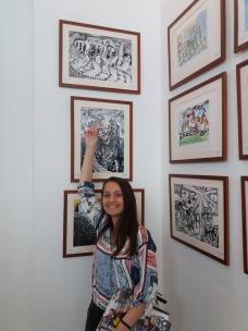 Elevele Bădulescu Lăcrămioara și Lungu Izabela Andra de la Colegiul Național de Arte Regina Maria Constanța2
