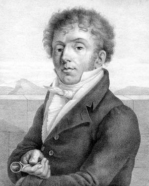 """Giuseppe Nicolini, compozitorul operei """"Traian in Dacia""""."""