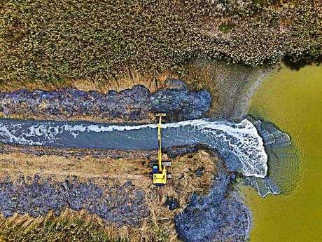 Apa începe din nou să curgă în lacul Nuntași1