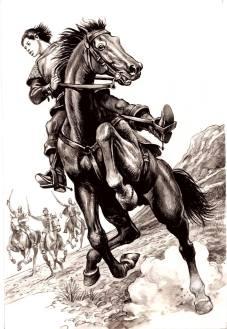 POVESTIRI ISTORICE de Dumitru Almaș, volumul 2, ilustrat de Valentin Tănase-06