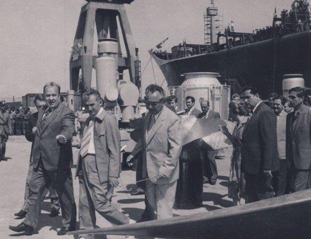 Vizita de lucru la Santierul Naval 2 Mai Mangalia 1981-15-iulie