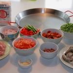 Alle Zutaten der Paella