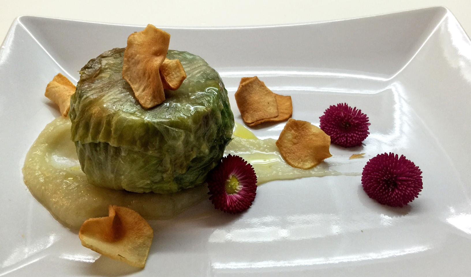 ricetta vegana scarola e topinambur