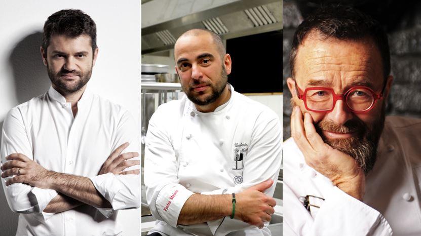 Florian Maison con Enrico Bartolini e Giancarlo Morelli