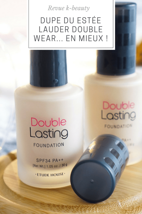 Estée Lauder Doubler Wear : Le dupe k-beauty meilleur que l'original ! Etude House Double Lasting Foundation