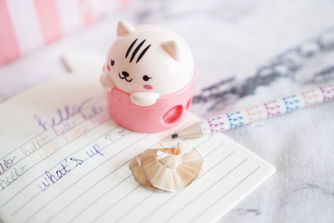 Crazy Kawaii Box Cute Cat Pen Sharpener