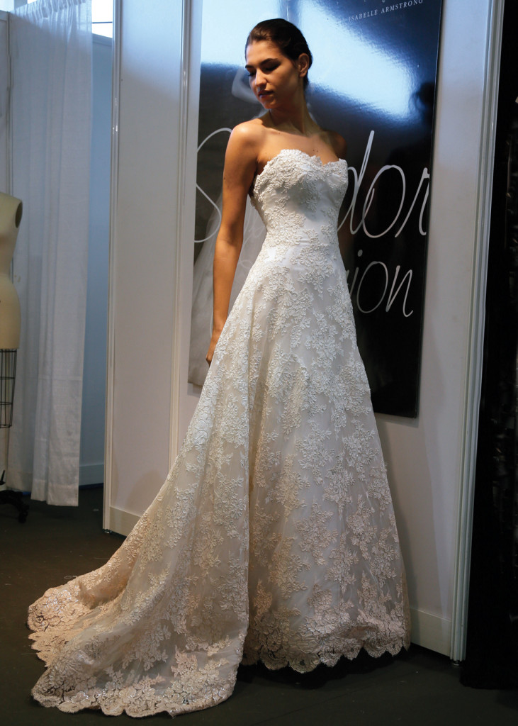 Isabelle Armstrong Vlassic A Line Wedding Gown