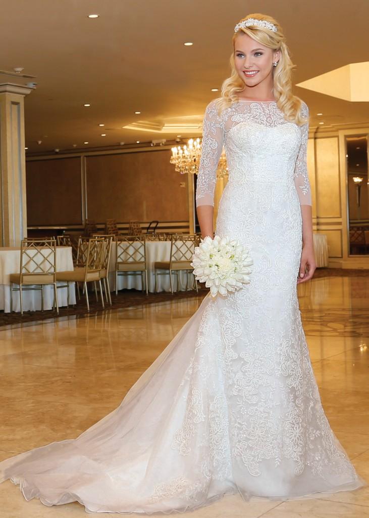 Trumpet Dress Bridal Wedding Gown By Oleg Cassini NY NJ